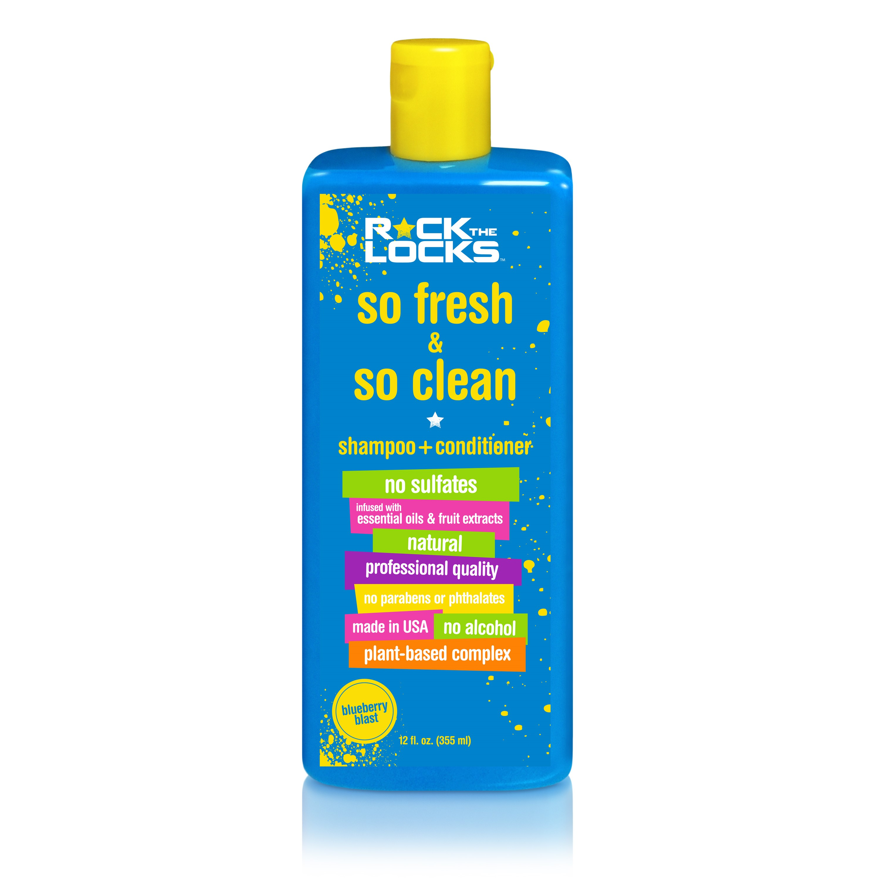 Rock the locks so fresh and so clean shampoo and conditioner blueberry blast, 12-oz bottle