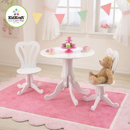 Kidkraft Parlor Kids 3 Piece Round Table And Chair Set
