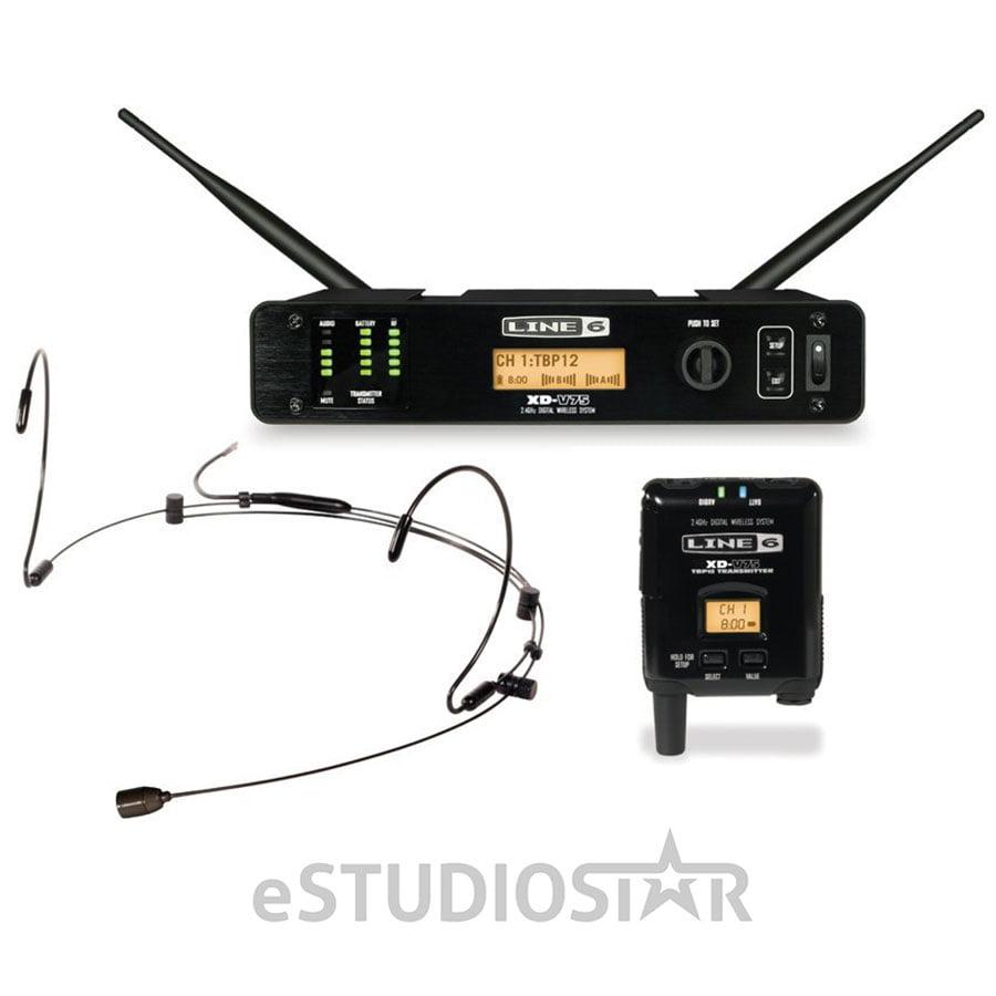 Line 6 XD-V75HS Digital Wireless Headset Microphone System (Black) by Line 6
