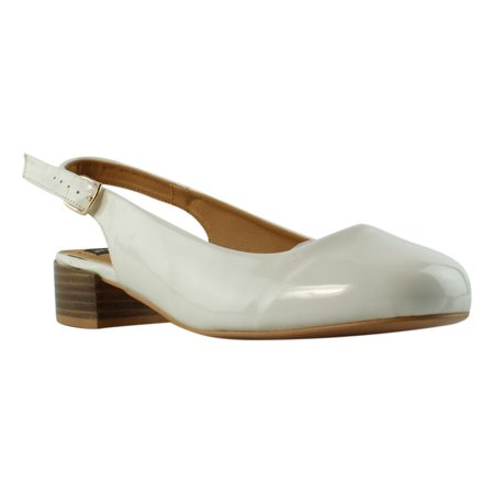 N.Y.L.A. Womens  Ivory Slingbacks Heels Size 8 New Womens Slingback Heels