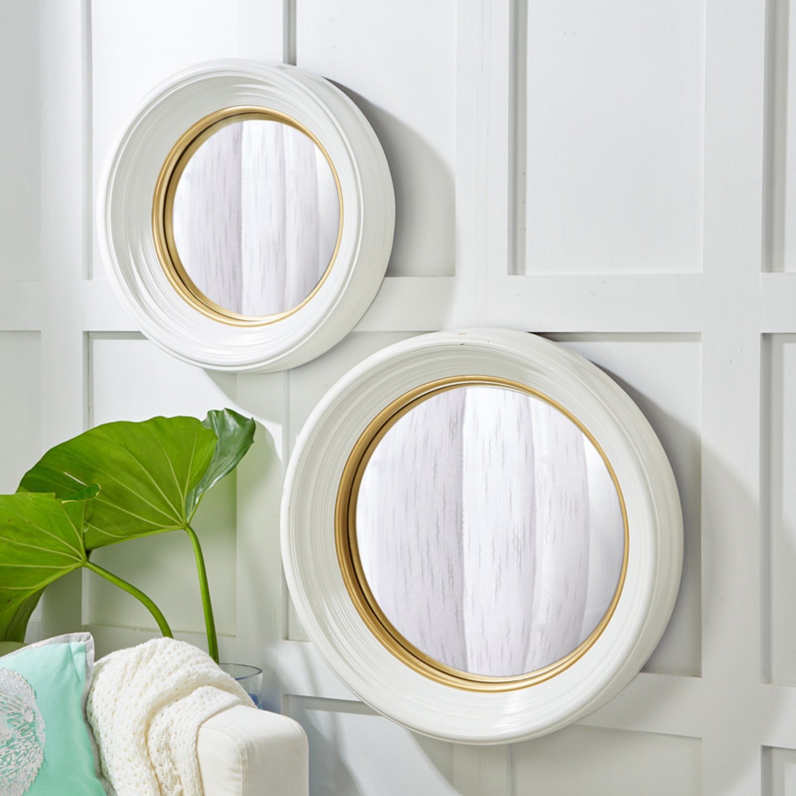 Passport Collection Madison Round Wall Mirror - Set of 2