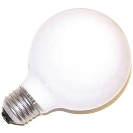 120 Volt 4 Light Chain - SYLVANIA INCANDESCENT DECORATIVE GLOBE LAMP G25, 40 WATT, 120 VOLTS, MEDIUM BASE, SOFT WHITE,  per 4 Case