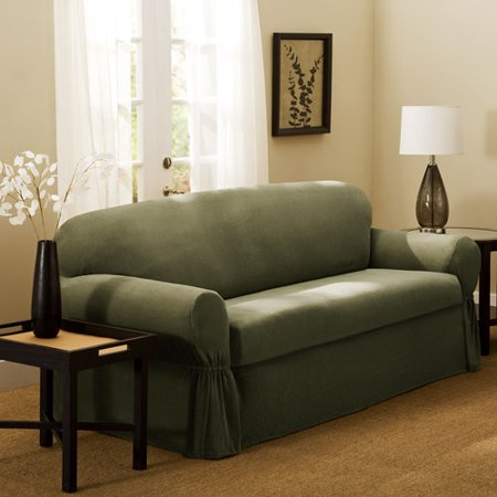Carter 2 Piece Sofa Slipcover Olive