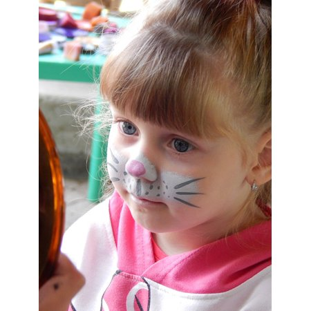 LAMINATED POSTER Girl Bodyart Child Painting Face Portrait Cat Poster Print 24 x (Kids Face Painting Cat)