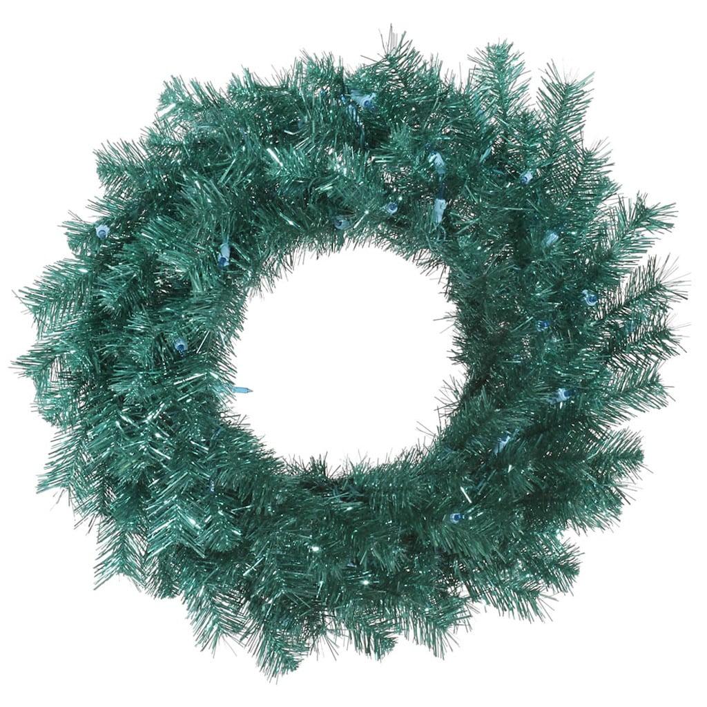 """Vickerman 32964 - 48"""" Aqua Tinsel Christmas Wreath (A147347)"""