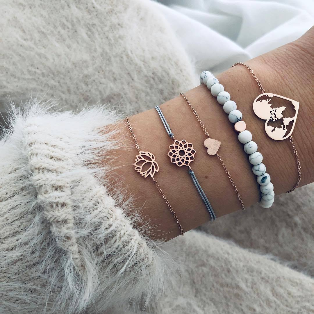 Crystal Rhinestones Elastic Bracelet Beaded Bangle Women Girl Party Fashion Gift
