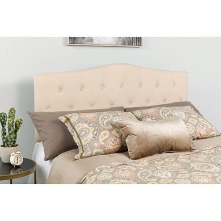 Flash Furniture Cambridge Tufted Upholstered Twin Size Headboard in Beige Fabric ()