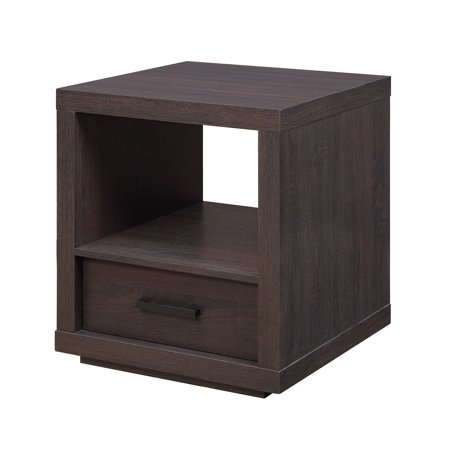 Better Homes And Gardens Steele End Table With Drawer Espresso Finish