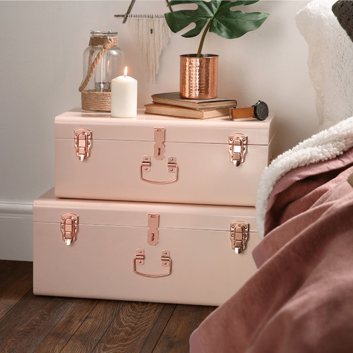 Beautify 2 Piece Storage Trunk Set