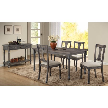 Weathered Lookinhg Dining Table, Gray ()