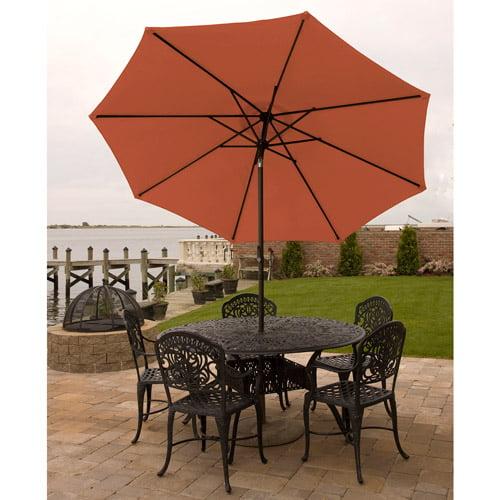 Bliss Hammocks 9' Aluminum Market Umbrella with Crank and Tilt Features