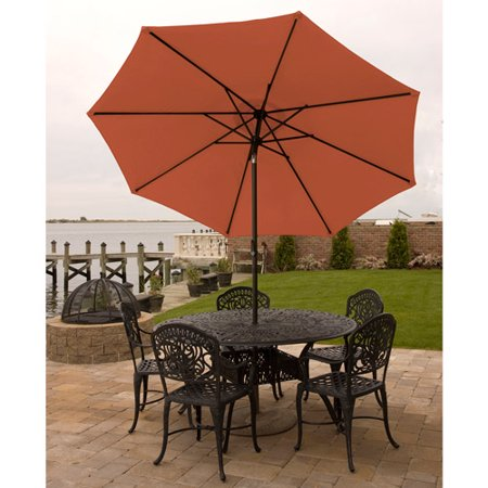 Bliss Hammocks 9 Aluminum Market Umbrella With Crank And Tilt Features