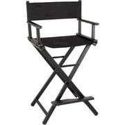 Sunrise JL009AB 29 In Black Aluminum Director Chair