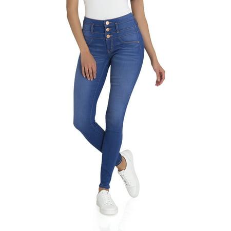 No Boundaries Juniors' super soft triple stack jeans