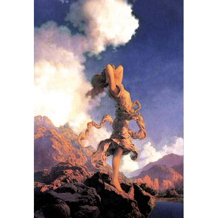 Halloween Advertising Campaigns (Maxfield Parrish was an American painter and illustrator  He worked on commission on books advertising campaigns magazines and even sculpture  He was famous for his girls on rocks)