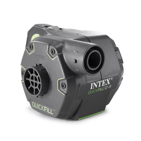 Intex Foam Bed - Intex 120 Volt Quick Fill Cordless Rechargeable Electric Inflatable Air Bed Pump
