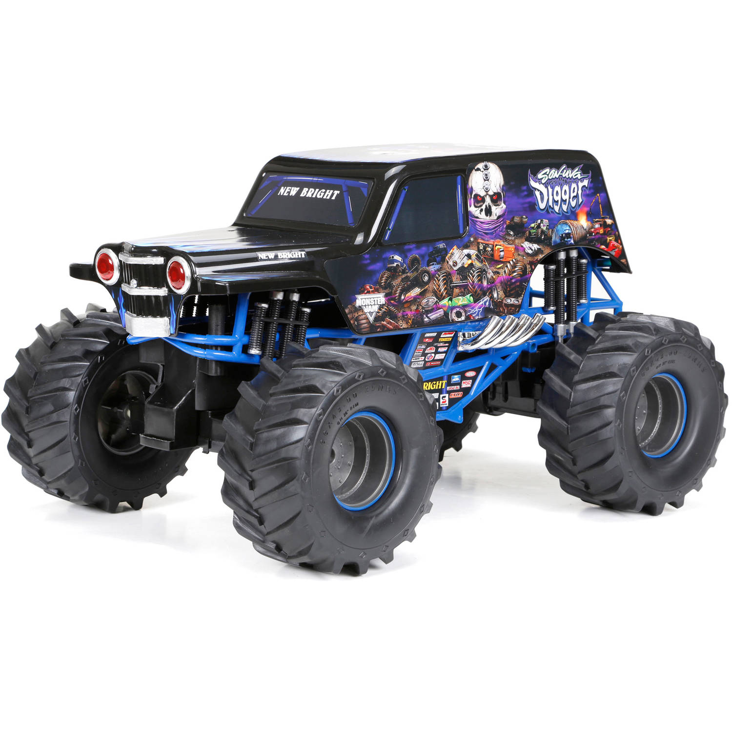 1:10 Full-Function 9.6V Monster Jam Sonuva Digger R/C Car, Black