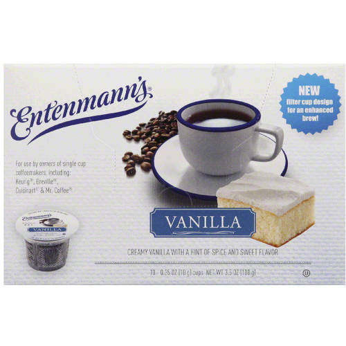 Entenmann's Vanilla Coffee, 0.35 oz, 10 count, (Pack of 4)