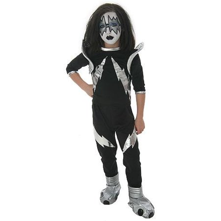 KISS Authentic Rock The Nation Spaceman Costume Child - Kiss Spaceman Makeup