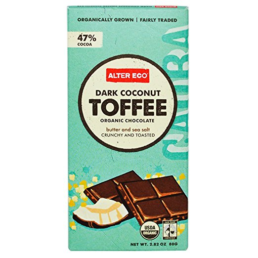 Alter Eco, Organic Chocolate, Dark Coconut Toffee, 2.82 oz pack of 2 by