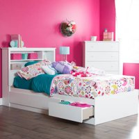 South Shore Vito Twin Storage Bed and Headboard, Multiple Finishes
