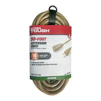 Hyper Tough 50FT 16AWG 3 Prong Tan Single Outlet Outdoor Extension Cord