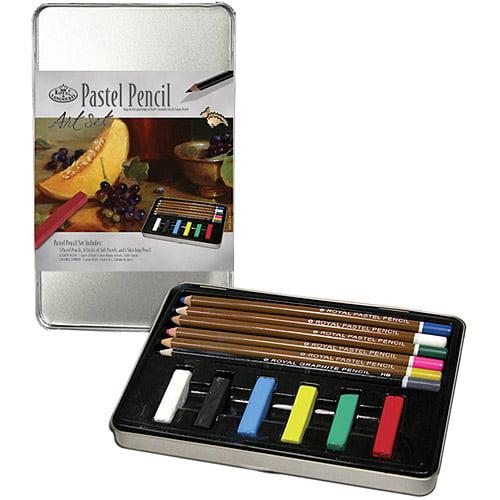 Royal Langnickel Art Set Tin Kits, Pastel Pencil