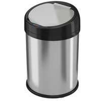 iTouchless 8 Gallon Round Extra-Wide Stainless Steel Sensor Can