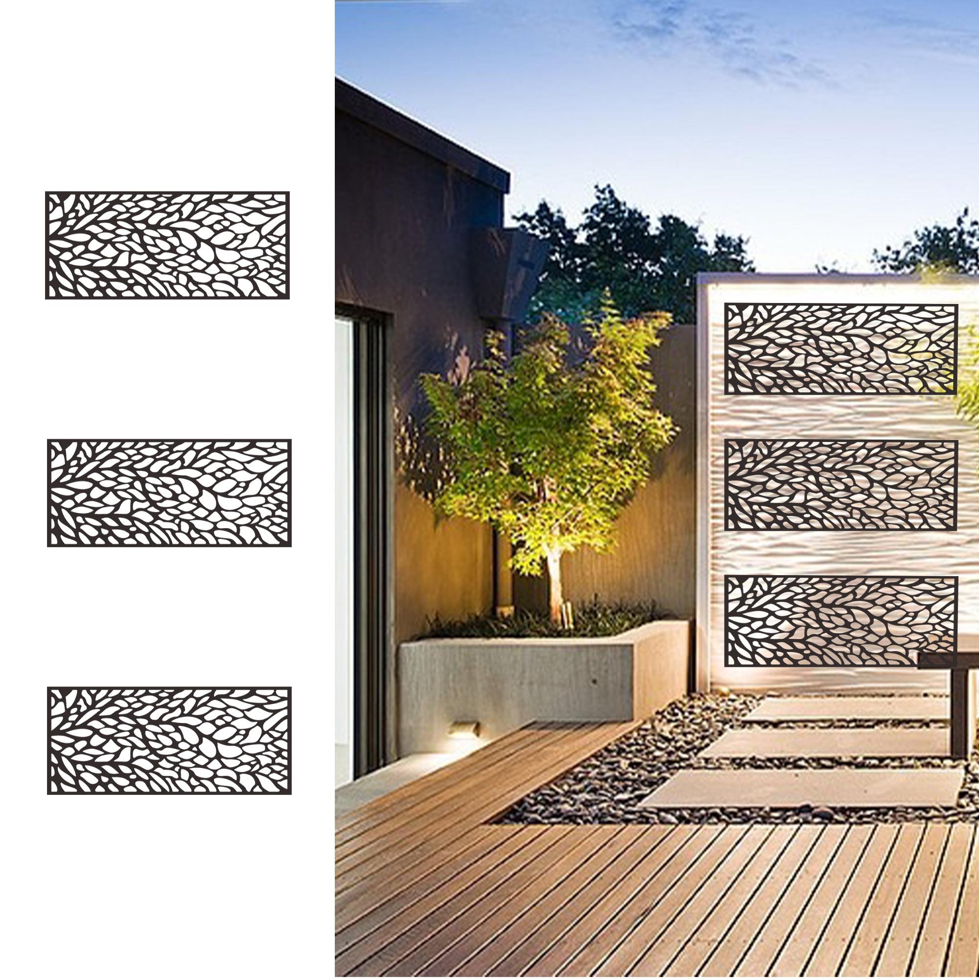 Metal Privacy Screen Fence, Metal Tree Metal Wall Art ...