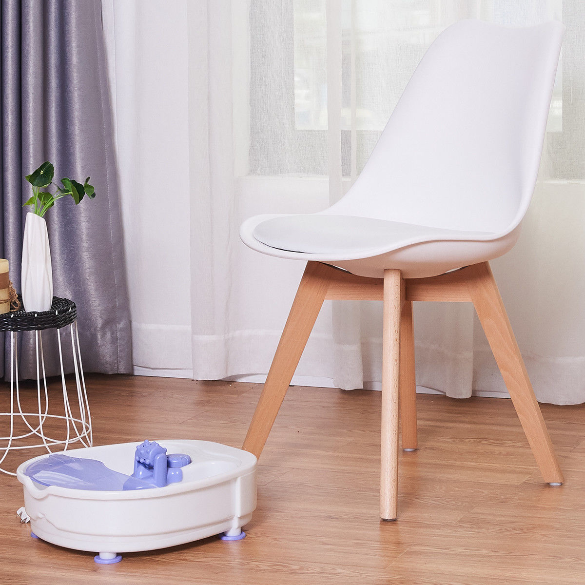 Costway Electrical Foot Basin Tub Point Massage Home Use Therapy Machine Health Heating - image 2 de 9