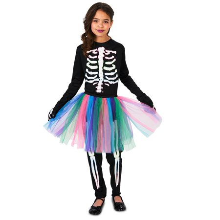 Skeleton Tutu Child Costume - Diy Skeleton Costume
