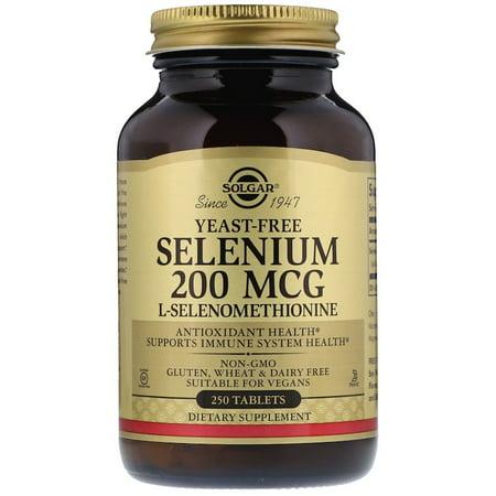 Solgar, Selenium, Yeast Free, 200 mcg, 250 Tablets(pack of 1)