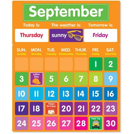 Scholastic Teaching Resources SC-812780 Color Your Classroom Calendar Bulletin Board Set ()