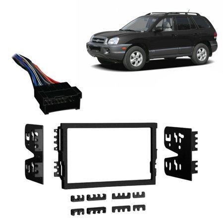 Fits Hyundai Santa Fe 01-06 Double DIN Stereo Harness Radio Install Dash Kit (Hyundai Santa Fe Radio)