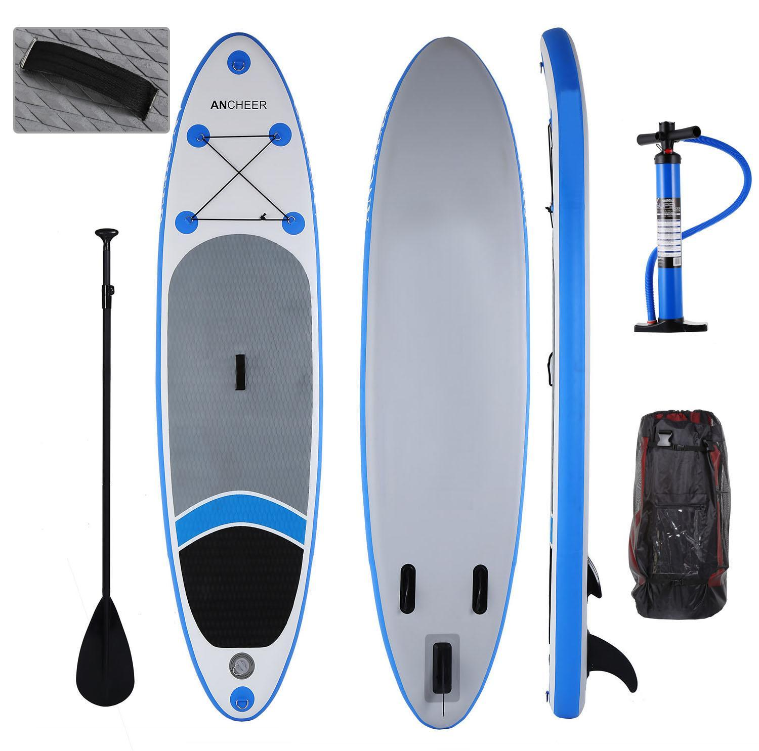 Inflatable SUP Stand Up Paddle Board 11', Inflatable Paddle Board (6'' Thick SUP board), iSUP Board Package with Adjustable Paddle, Pump and Backpack