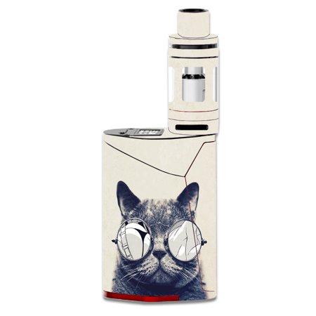 Skin Decal For Smok Gx350 Kit Vape Mod / Cool Cat Kat Shades Glasses Tumblr