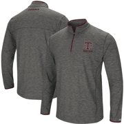 Texas A&M Aggies Colosseum Big & Tall Diemert Quarter-Zip Windshirt Jacket - Heathered Gray