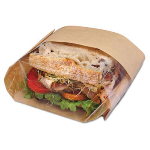 Royal Paper Products 300094 Dubl View Sandwich Bags, 9 1/2 X 5 3/4 X 2 3/4, Natural Brown, 500/carton