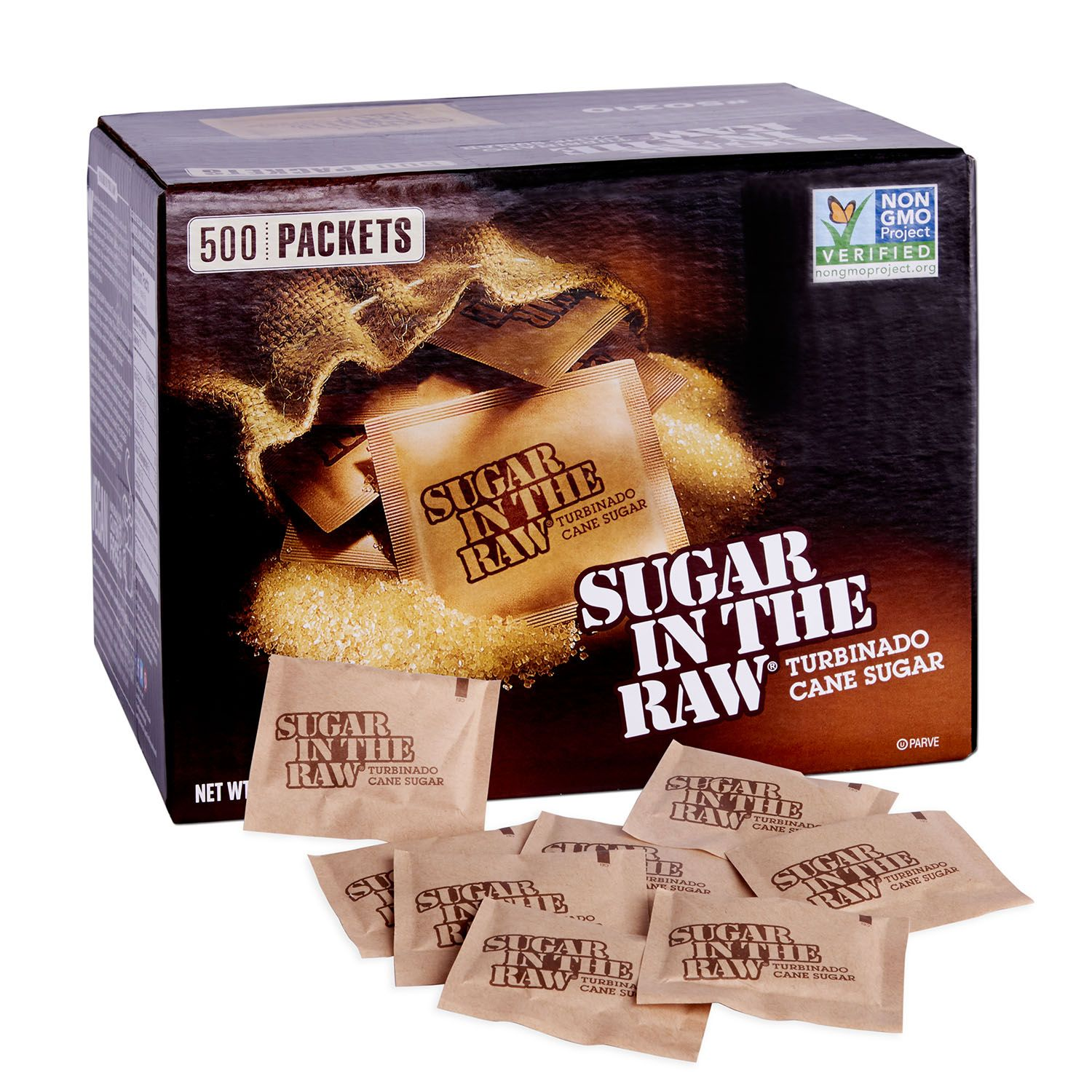 Sugar In The Raw Natural Cane Turbinado Sugar, 500 packets