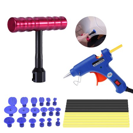 Auto Body Paintless Dent Removal Tools Kits 30PCS Dent Puller Hot Glue Gun Set For Car Hail Damage And Door Dings