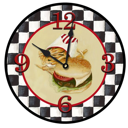 Lexington Studios Burgers N' Fries Wall Clock