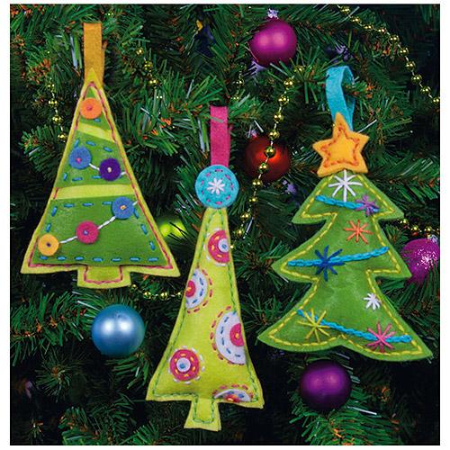 "Dimensions ""cheery Trees Ornament"" Felt"