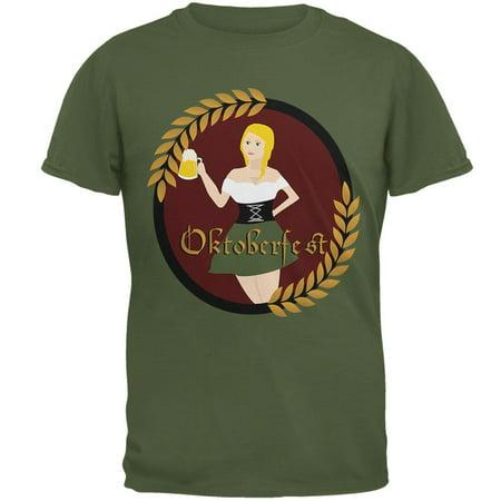 Oktoberfest German Beer Wench Maiden Mens T Shirt