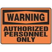 "Warning Sign, Accuform Signs, MADM323VA, 10""Hx14""W"