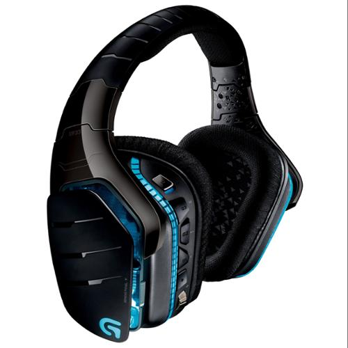 Logitech Artemis Spectrum Wireless 7.1 Surround Sound Gaming Headset - Stereo - Mini-phone, Rca - Wired/wireless - 65.6 Ft - 39 Ohm20 Khz - Over-the-head - Binaural - Circumaural (981-000585)
