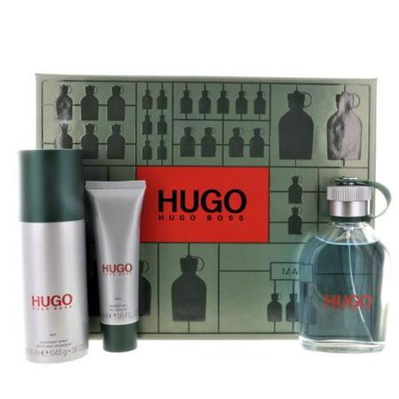 Hugo Boss Man Green 3 PCS Gift Set(4.2 oz EDT+3.6 DEO SPRAY+1.6 oz SG)