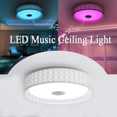 Led Music Ceiling Light Remote Control Modern Pendant Flush