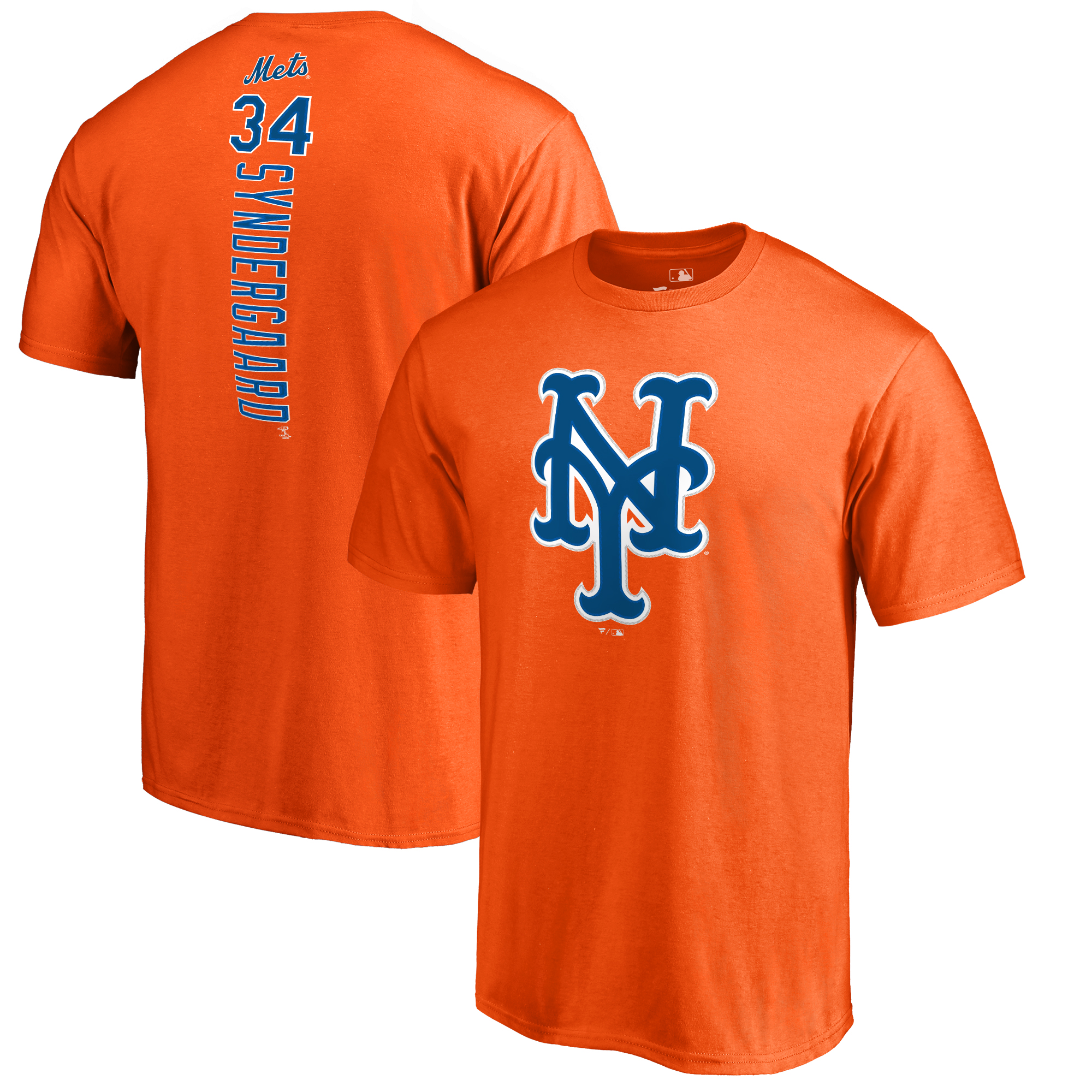 Noah Syndergaard New York Mets Backer T-Shirt - Orange