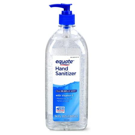 Equate Hand Sanitizer with Vitamin E, 34 fl oz