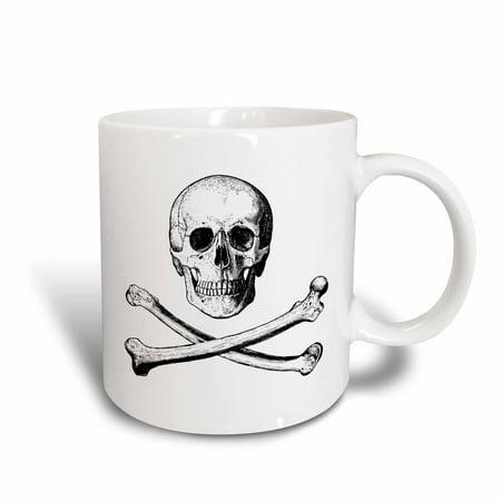 3dRose skull and crossbones picture of skull and bones on white background, Ceramic Mug, 15-ounce](Ceramic Skulls)